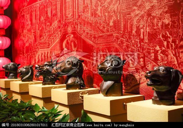 圆明园十二生肖兽首铜像在哪里?