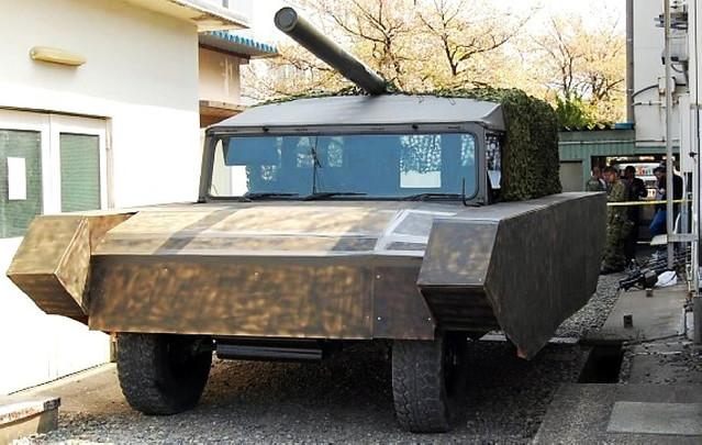 日本自卫队假想敌部队部分装备曝光 DIY水平太粗糙了