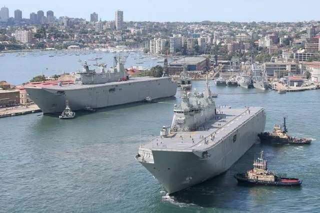 澳海军六艘主力舰艇驶向南海 被指意在向中国施压、向美国表忠心