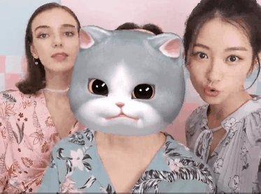 高颜值表情试用华为nova33D全集功:美女日本兔子画面表情包大图片图片