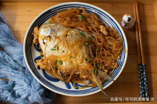 鲳鱼这种烧法吃过,与肉末粉丝一起煮,太香了牛肚煮多久凉拌适合图片