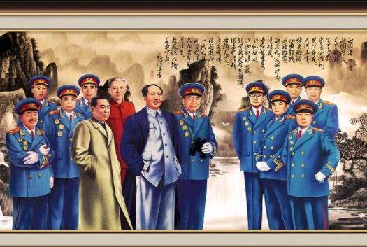 """""""开国将军""""中,大将、上将、中将、少将,排名第一的分别是谁?"""