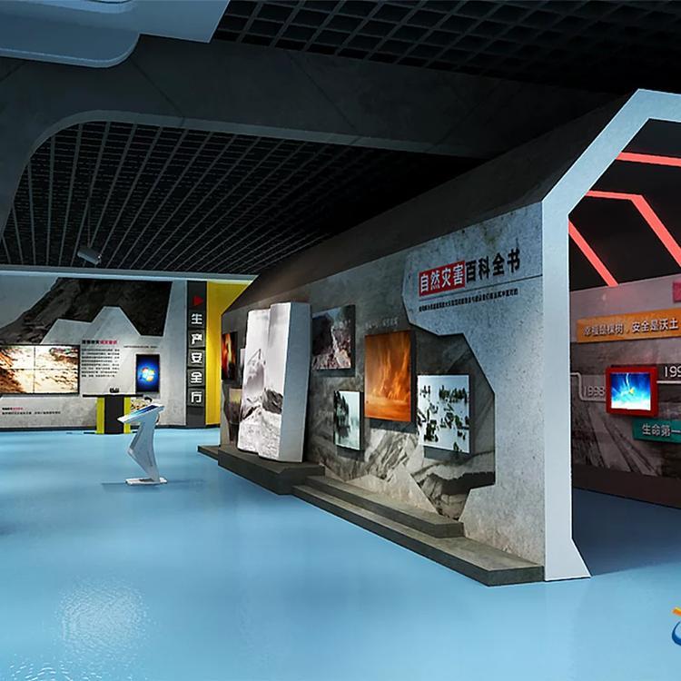 多媒体互动人防展厅民防展馆,数字化绿化提升防空景观设计图片