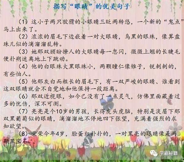 小学语文老师:158个描写人物外貌的绝佳句子,