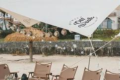 标题:惠州海边露营迎来初秋的第一场落日